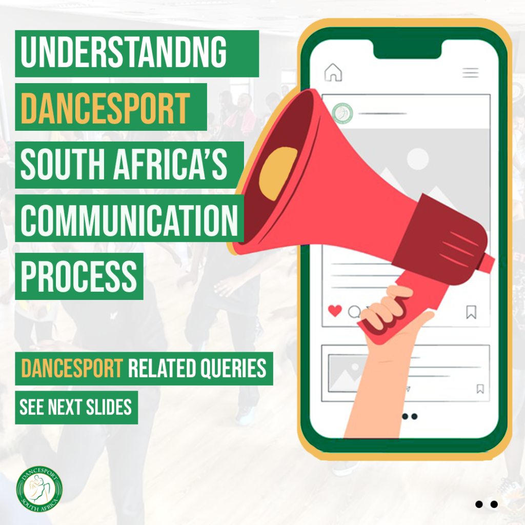 We have created a basic infogram template on understanding the communication process of Dance Sport South Africa