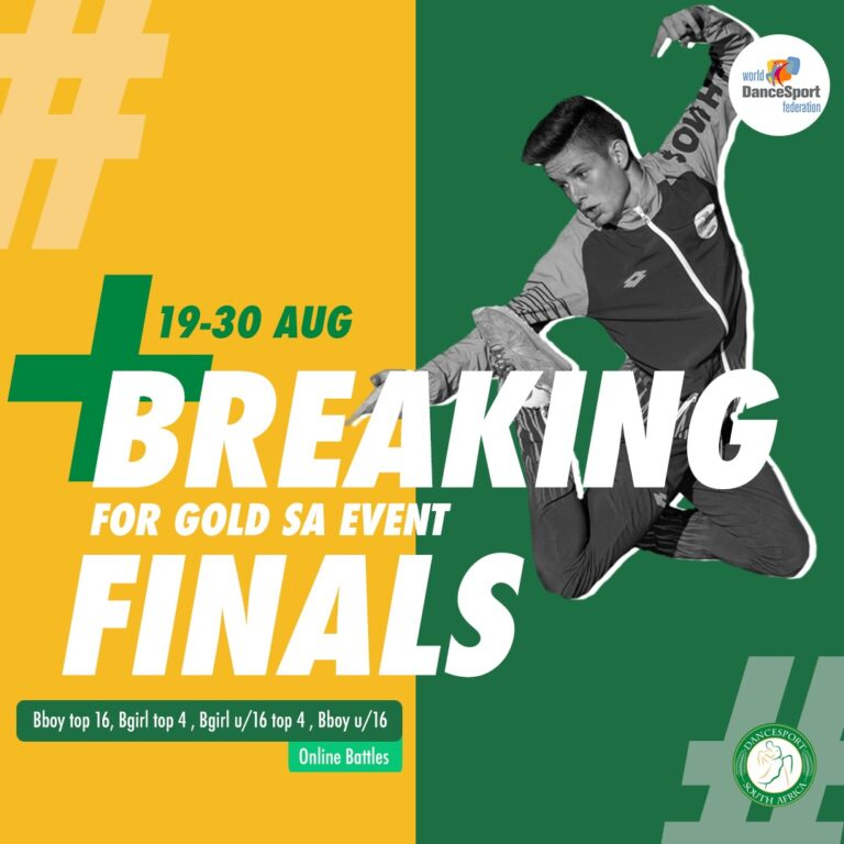 Read more about the article Breaking For Gold South Africa qualifying athletes announced and will be battling head to head online between the 19 – 30 August